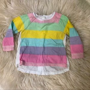 🌟3/$15🌟H&M rainbow baby girl long sleeve tee